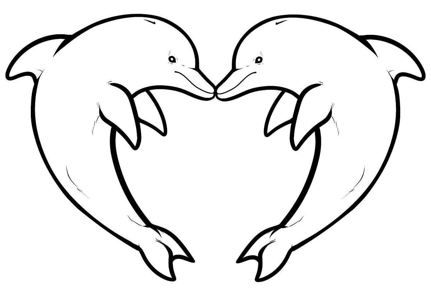 Dolphins To Download - Dolphins Kids Coloring Pages - Dolphin Coloring Sheets Free Printable