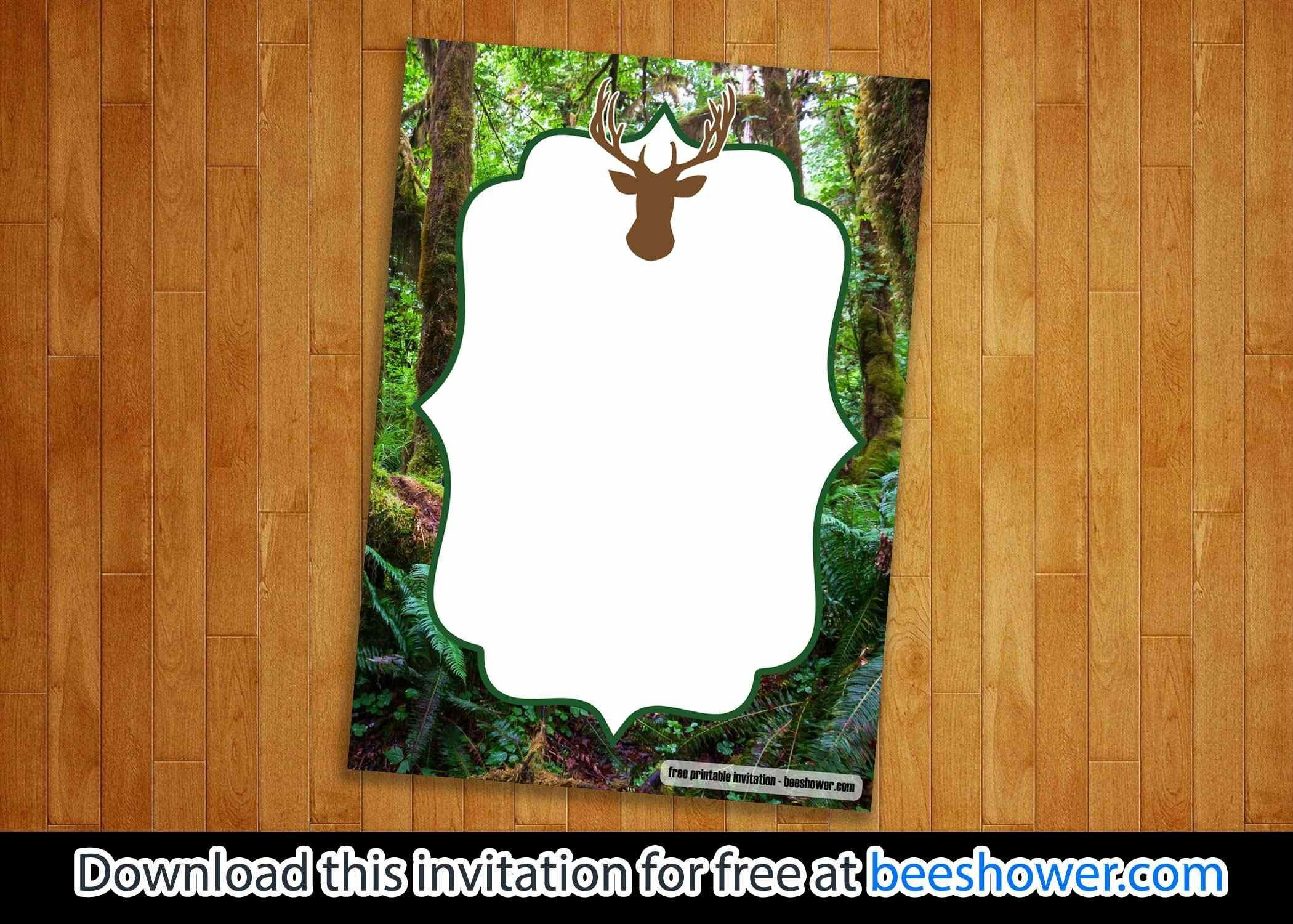 Download Free Printable Camo Baby Shower Invitations   Beeshower - Free Printable Camo Baby Shower Invitations