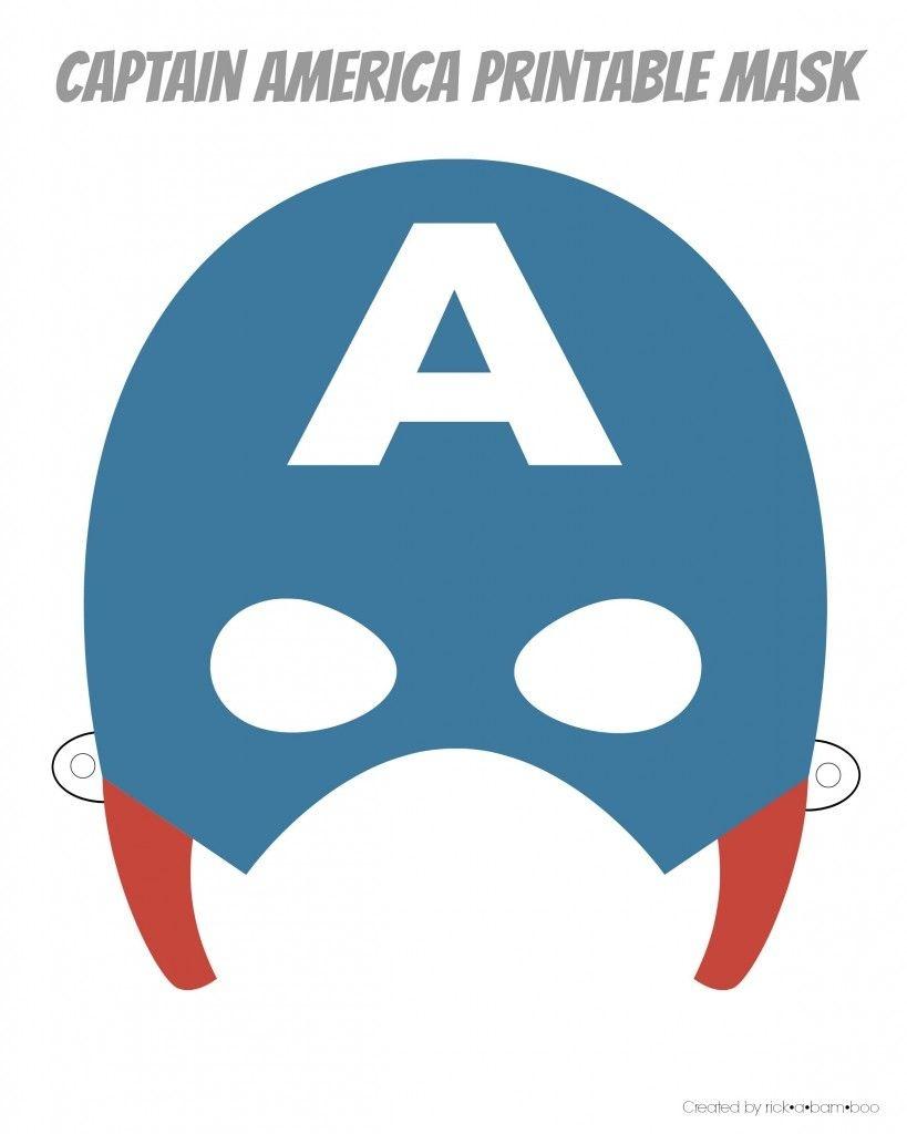 Easy Superhero Mask Template (Free!!)   Party [Herois - Free Printable Superhero Masks