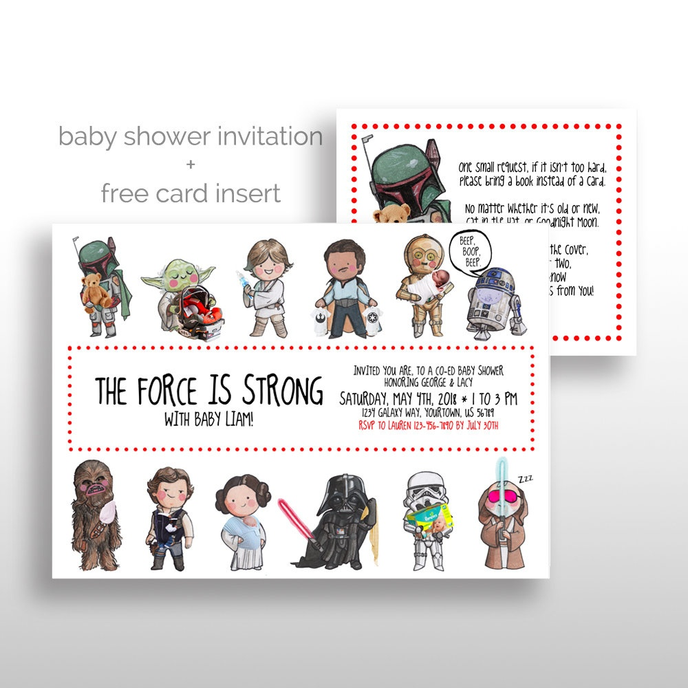 Editable Printable Star Wars Baby Shower Invitations Star   Etsy - Free Printable Star Wars Baby Shower Invites