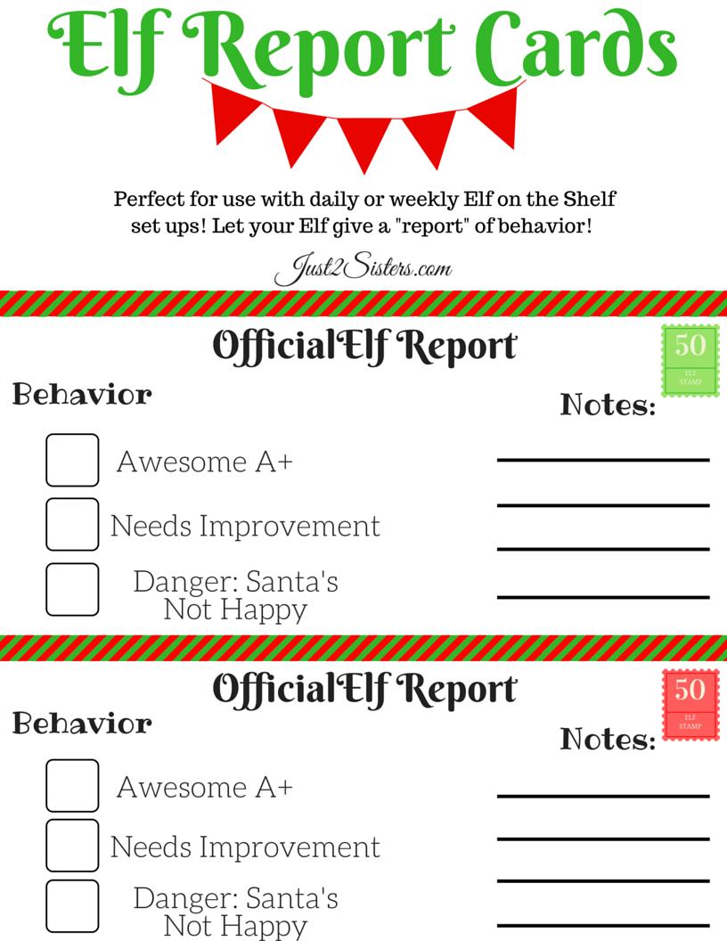 Elf On The Shelf Report Card Printable | New | Elf On The Shelf, Elf - Free Printable Report Cards