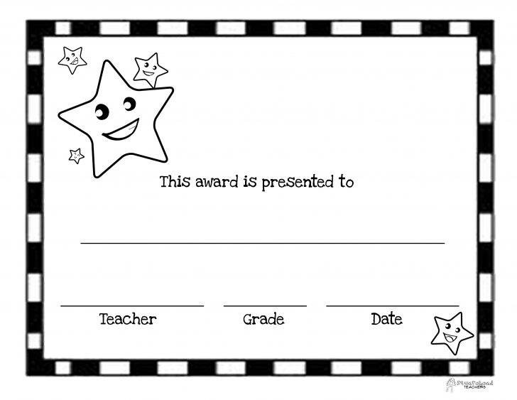 Free Printable Student Award Certificate Template