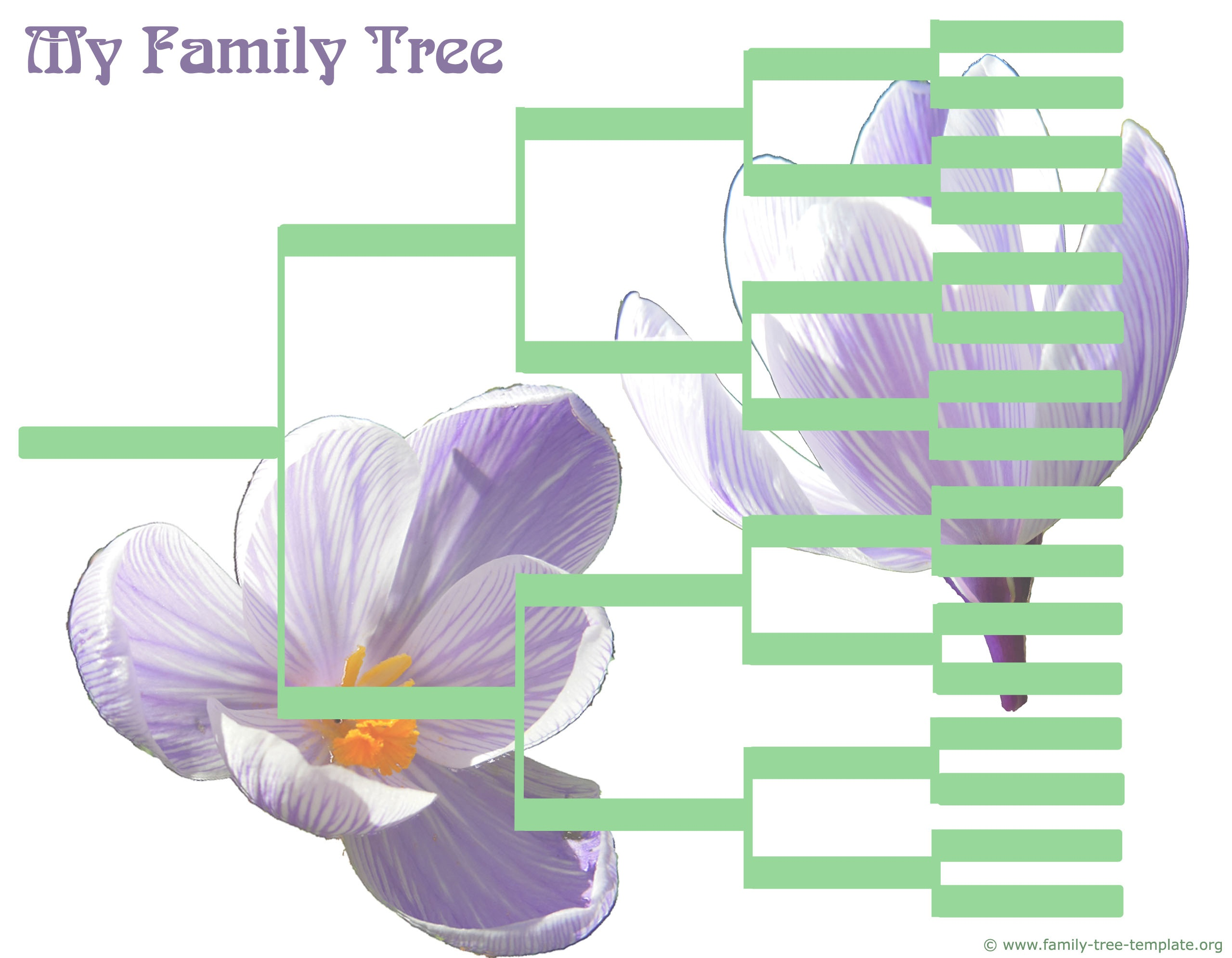 Family Tree Templates & Genealogy Clipart For Your Ancestry Map - Free Printable Family Tree Template 4 Generations