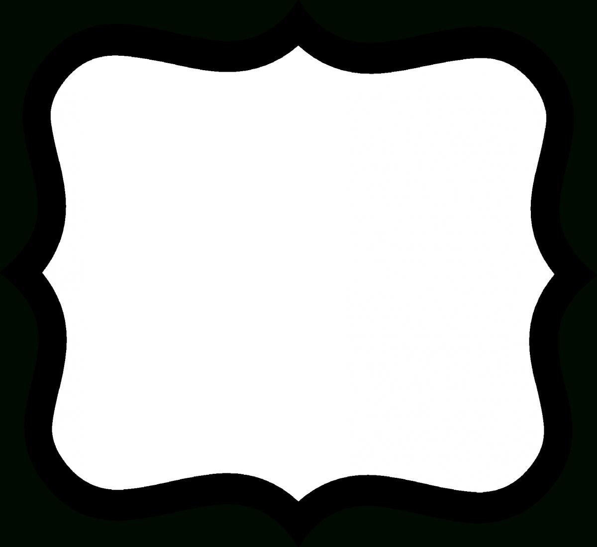 Fancy Label Shape Clip Art | Creative Entertainment And Food | Label - Fancy Labels Printable Free
