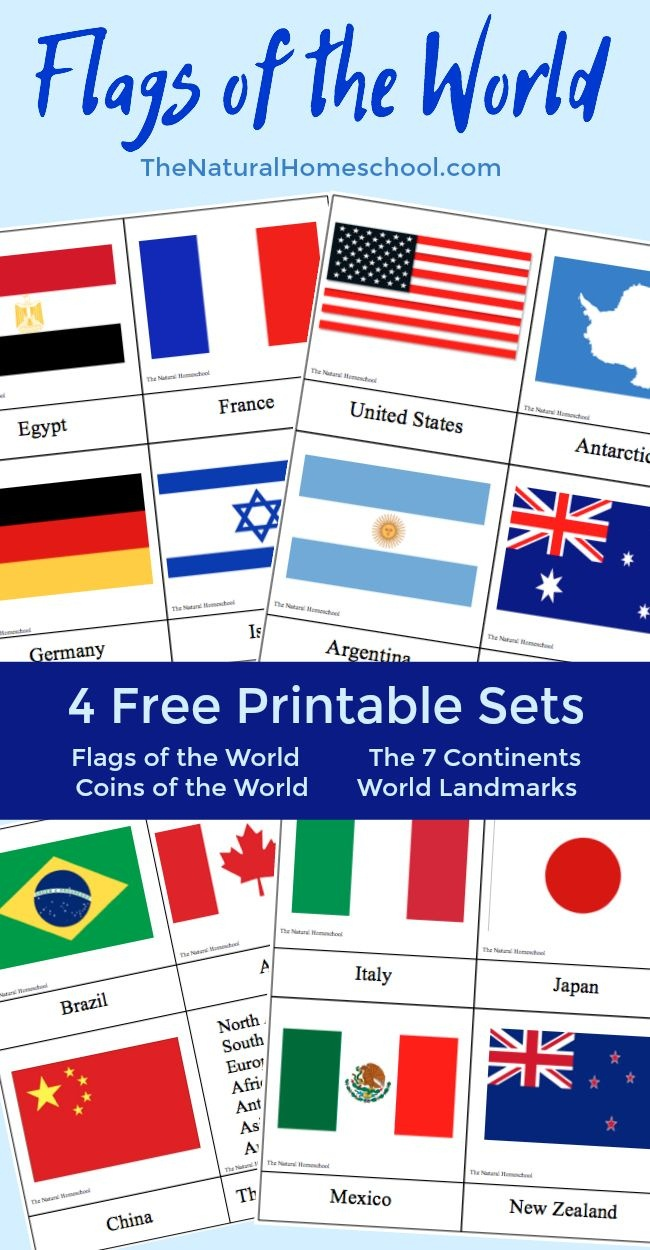Fantastic Country Flags Of The World With 4 Free Printables | The - Free Printable Pictures Of Flags Of The World