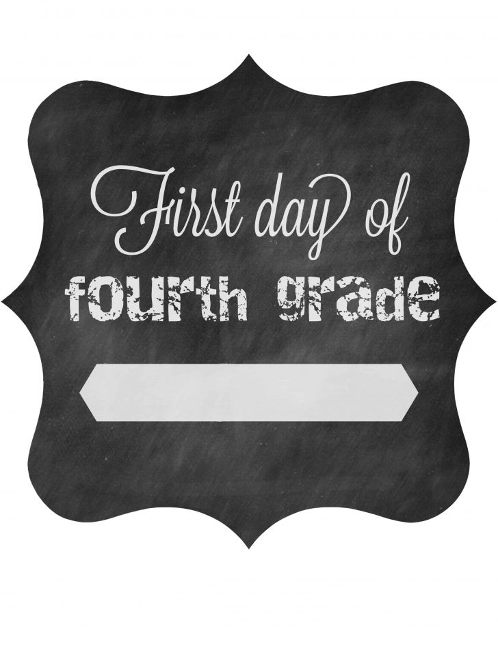 First Day Of Fourth Grade Free Printable
