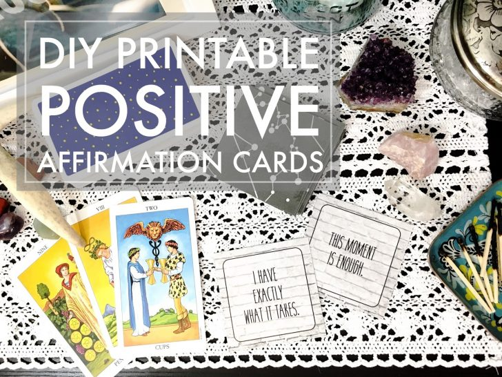 Free Printable Positive Affirmation Cards