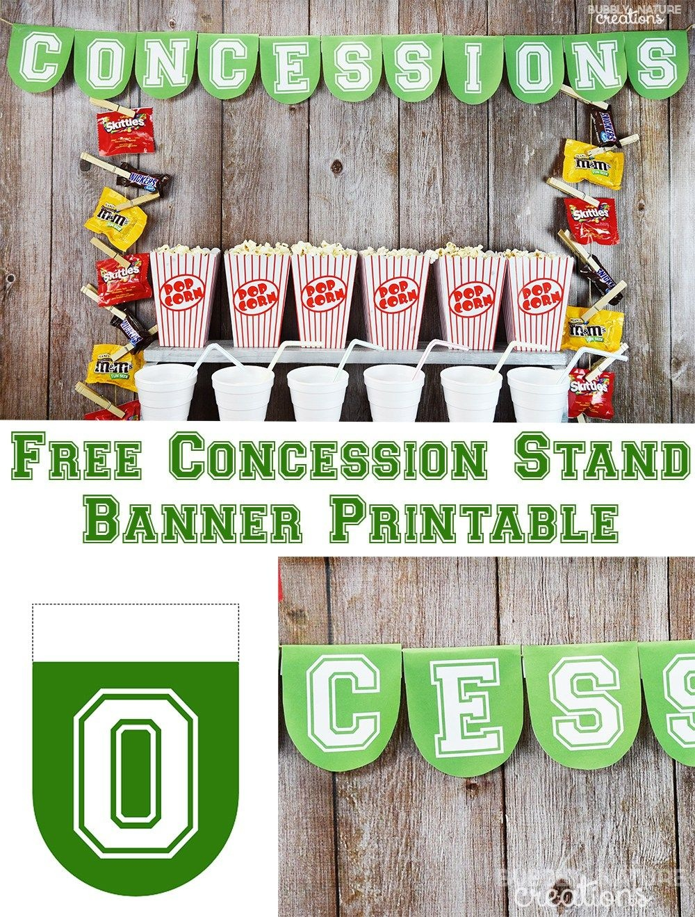 Football Party Concession Stand - Free Concessions Printable