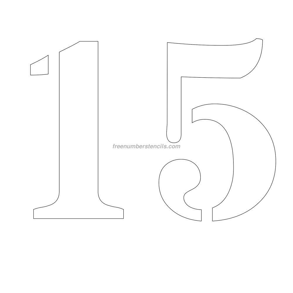 Free 12 Inch 19 Number Stencil - Freenumberstencils - Free Printable 4 Inch Number Stencils