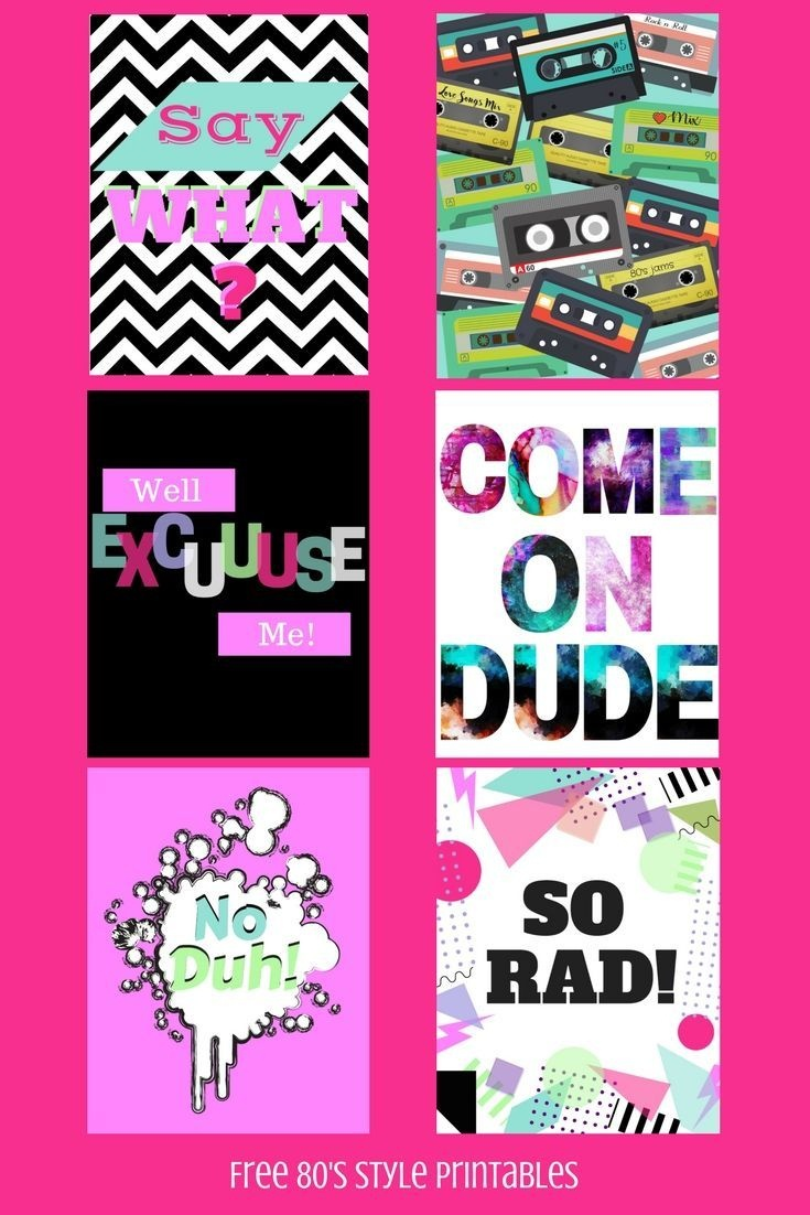 Free 80's Style Printables For All The 80's Lovers Out There - 80S Photo Booth Props Printable Free