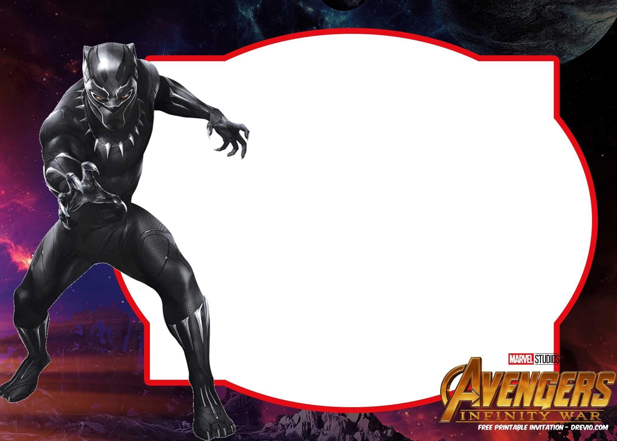 Free Avengers Infinity Wars Birthday Invitation Templates - All - Avengers Printable Invitations Free