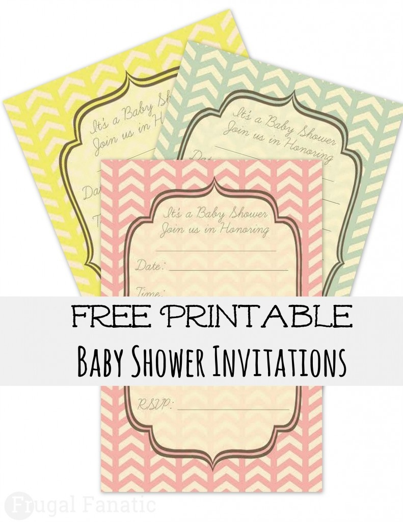 Free Baby Shower Invites - Frugal Fanatic - Free Printable Baby Shower Invitations