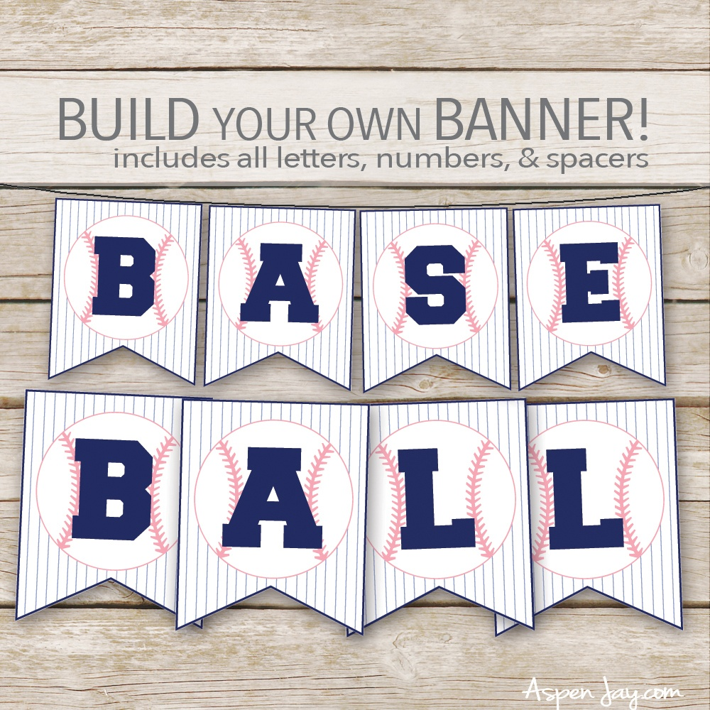 Free Baseball Concessions Banner - Aspen Jay - Free Concessions Printable
