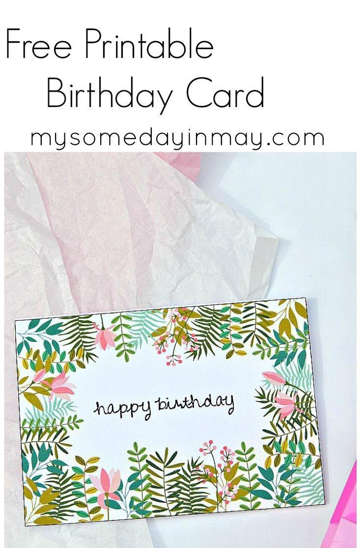 Free Birthday Card   Birthday Ideas   Free Printable Birthday Cards - Free Printable Greeting Cards