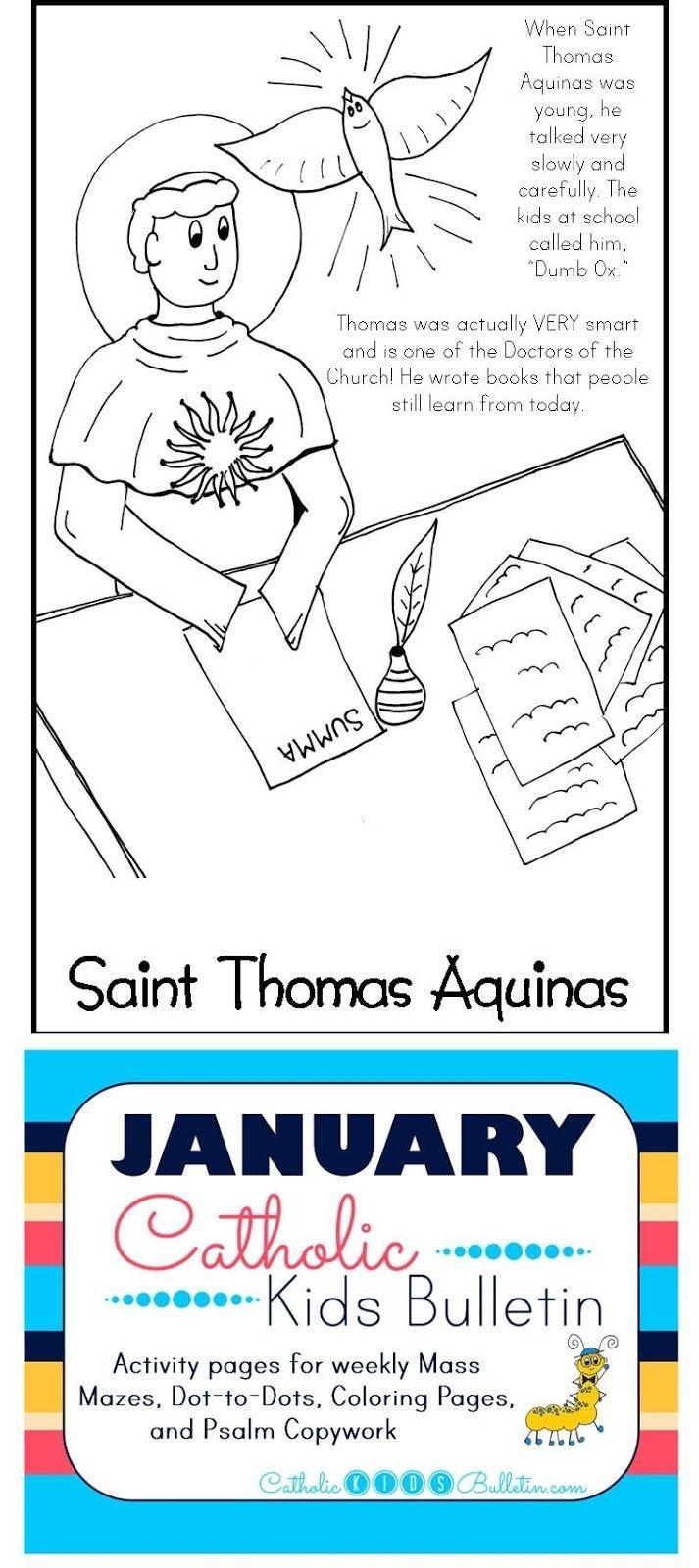 Free Catholic Mass Bulletins And Coloring Pages! Saint Thomas - Free Printable Catholic Mass Book