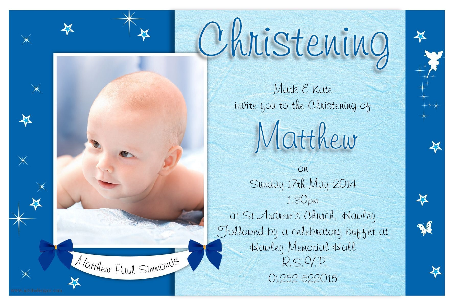 Free Christening Invitation Template Printable | Cakes In 2019 - Free Printable Personalized Baptism Invitations