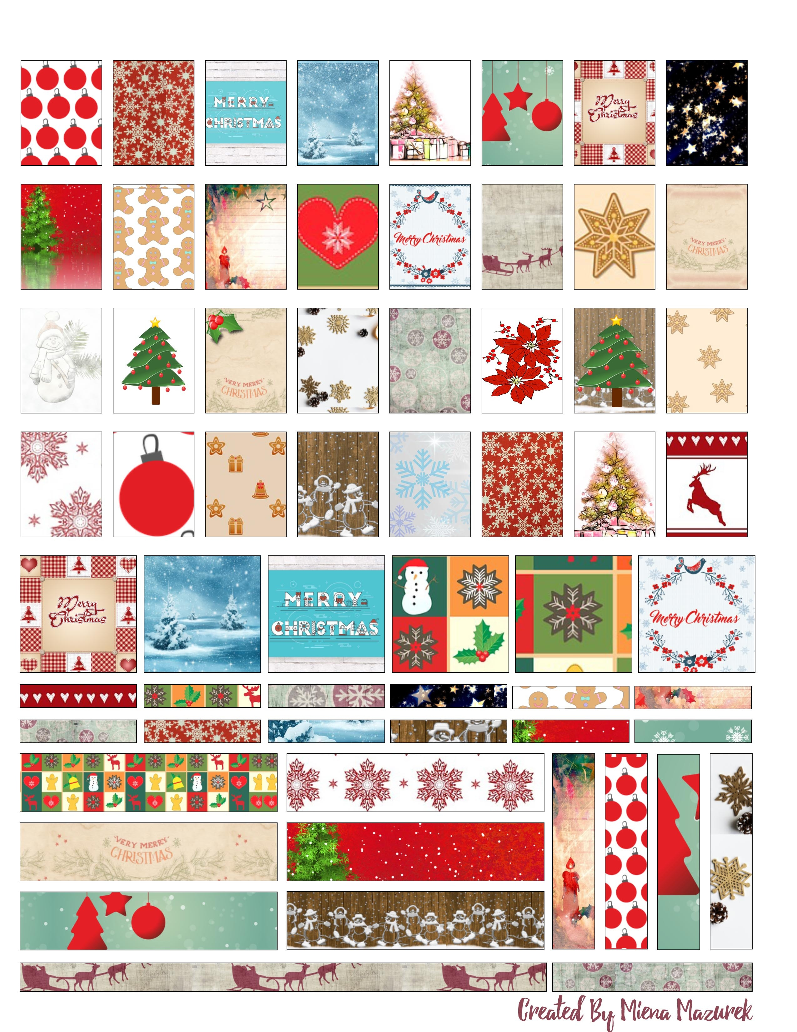Free Christmas And Winter Mini Panner Stickers Printable - Free Printable Holiday Stickers