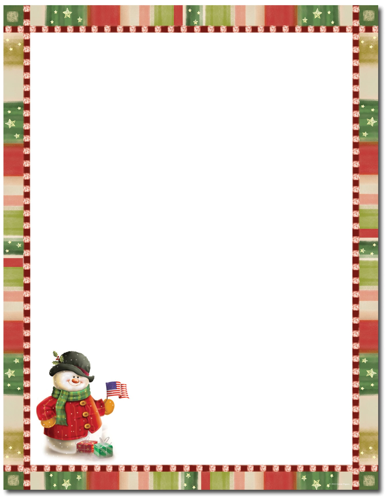 Free Christmas Stationary Cliparts, Download Free Clip Art, Free - Free Printable Christmas Stationery Paper