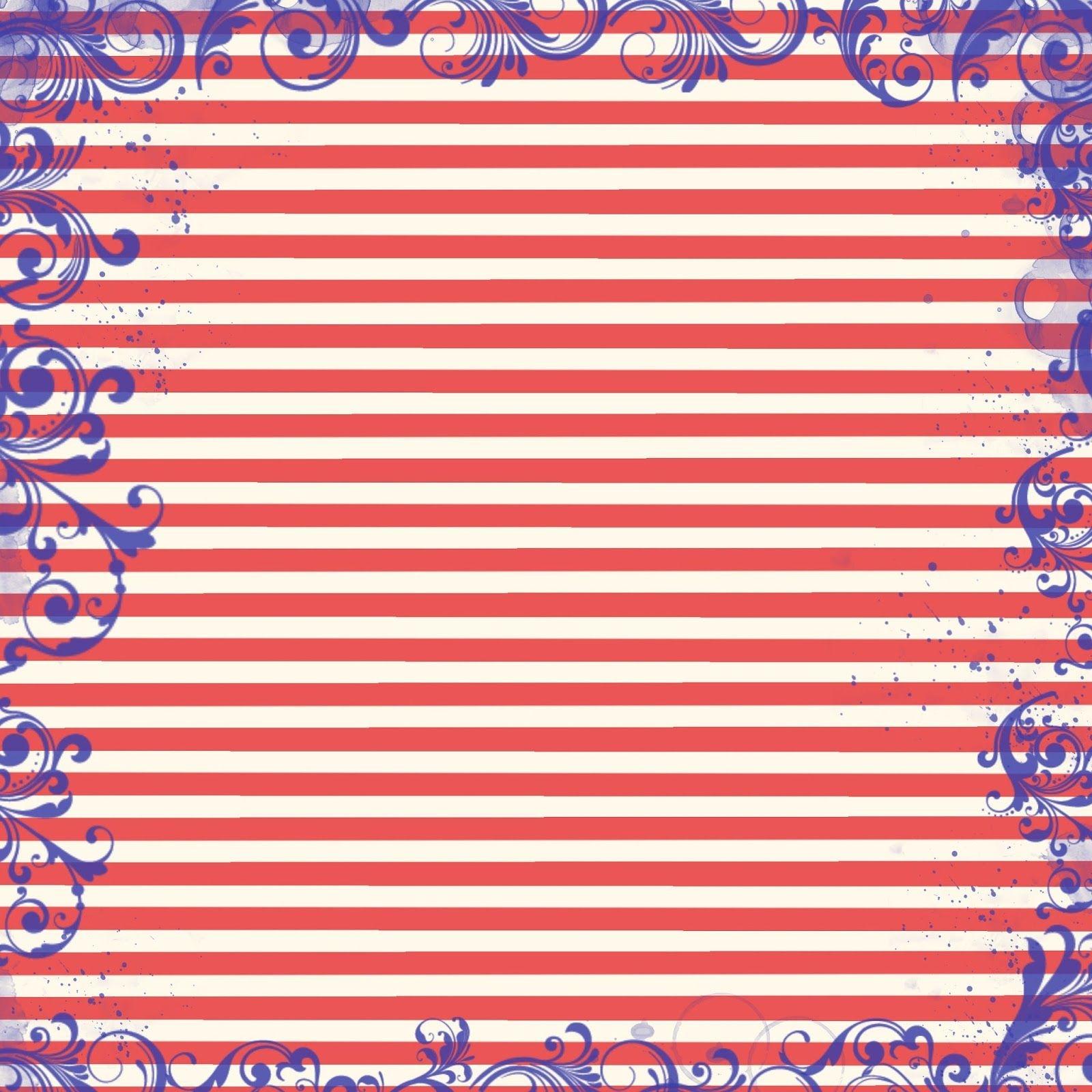 Free Digital Scrapbook Paper - Patriotic Red, White, And Blue - Free Printable Patriotic Scrapbook Paper