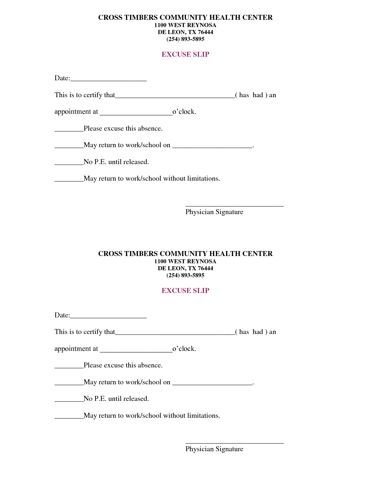 Free Doctors Note Template   Scope Of Work Template   On The Run - Free Printable Doctors Excuse