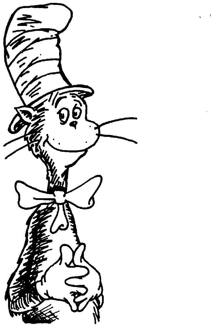 Free Download Cat In The Hat Black And White Clipart For Your - Free Printable Cat In The Hat Clip Art