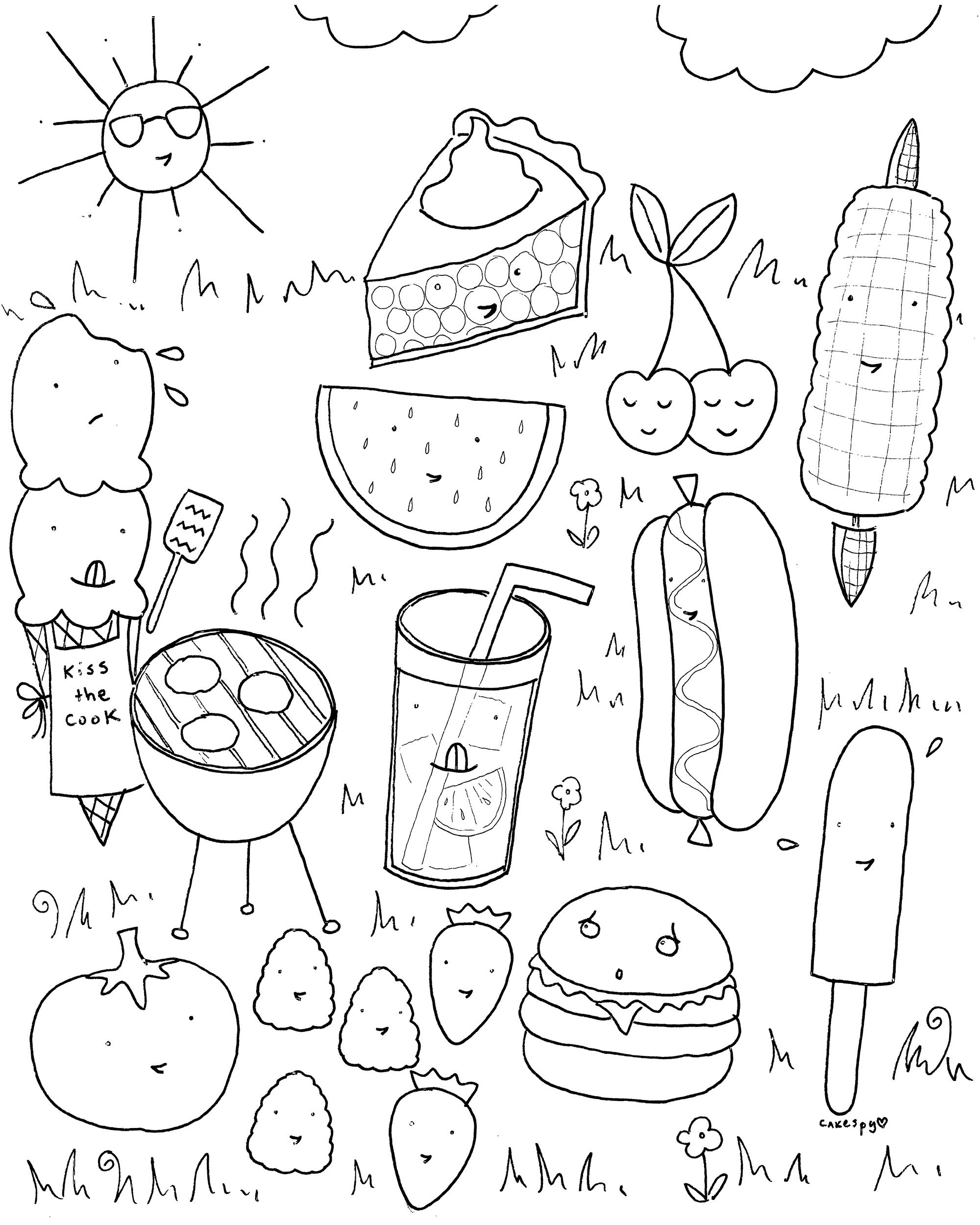 Free Downloadable Summer Fun Coloring Book Pages | Nanny Mcme - Summer Coloring Sheets Free Printable