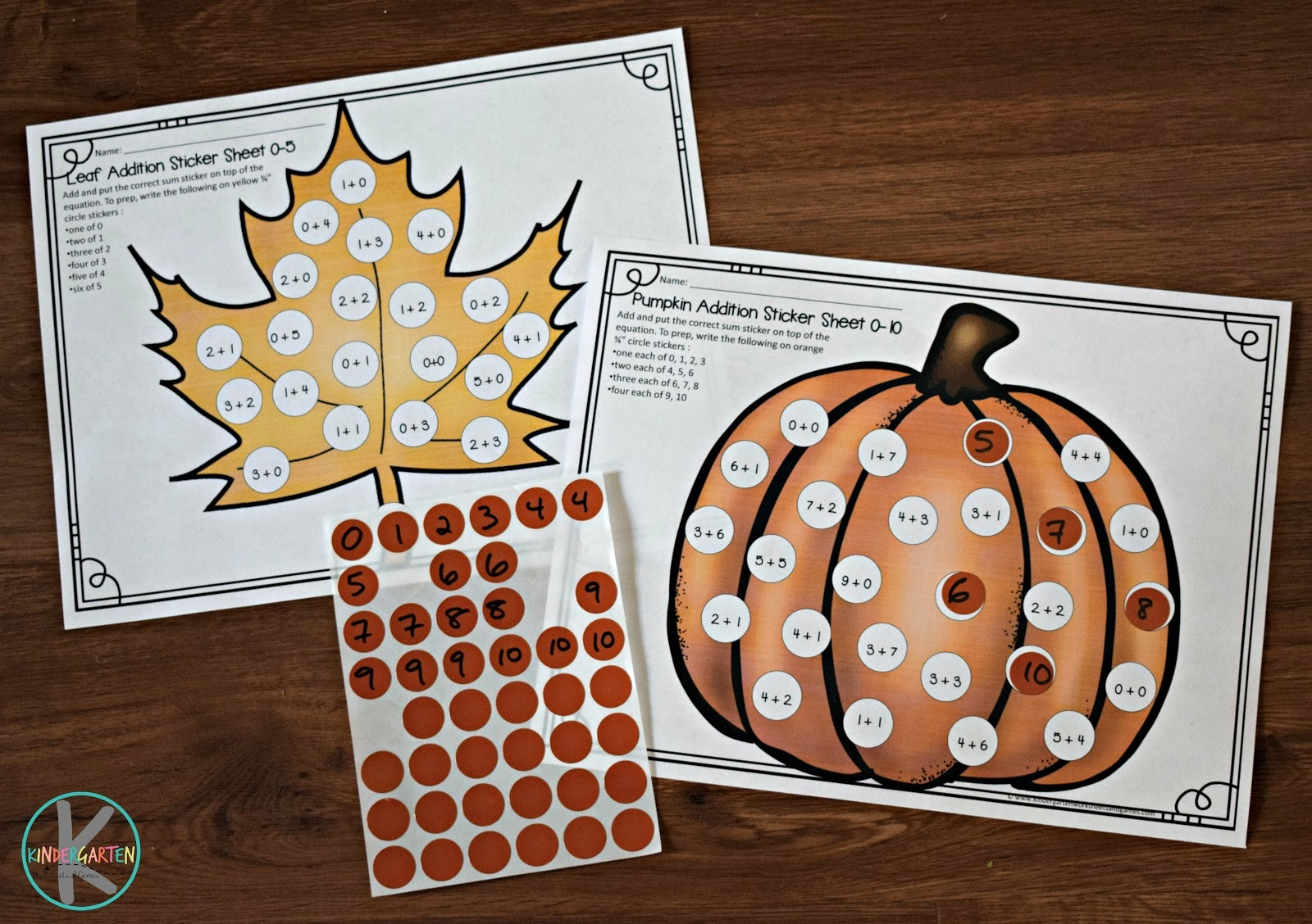 Free Fall Toddler Worksheets (Instant Download) - Free Printable Fall Math Worksheets
