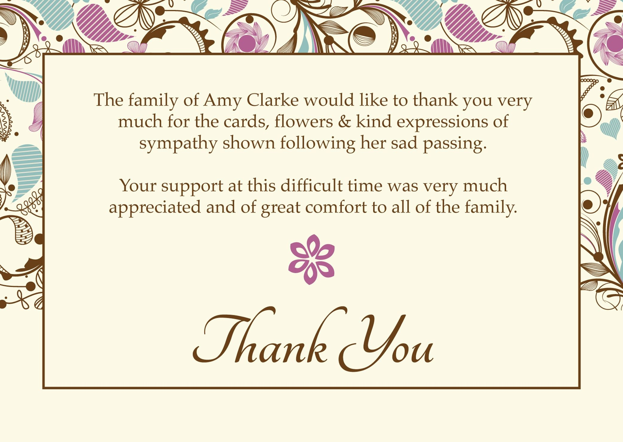 """Free Funeral Thank You Cards Templates Ideas   """"worth Knowing - Thank You Sympathy Cards Free Printable"""
