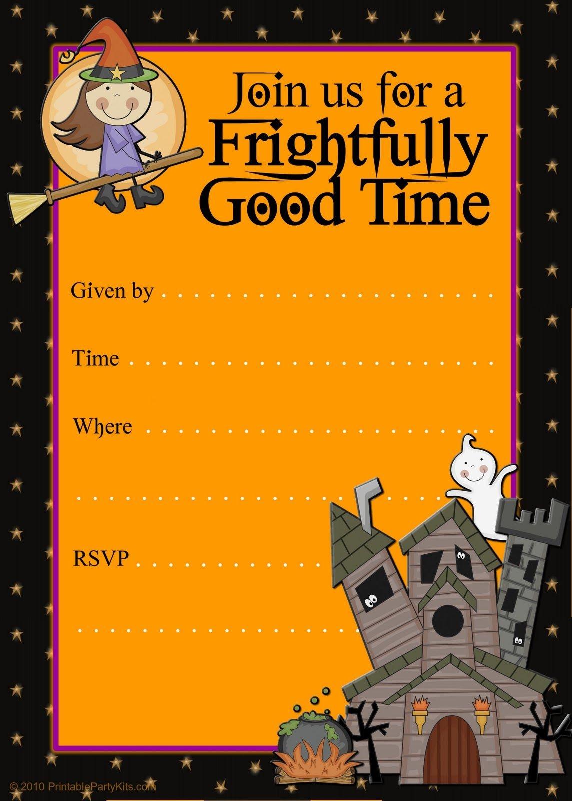 Free Halloween Flyer Invitations Printable   Food   Halloween Party - Free Printable Birthday Party Flyers
