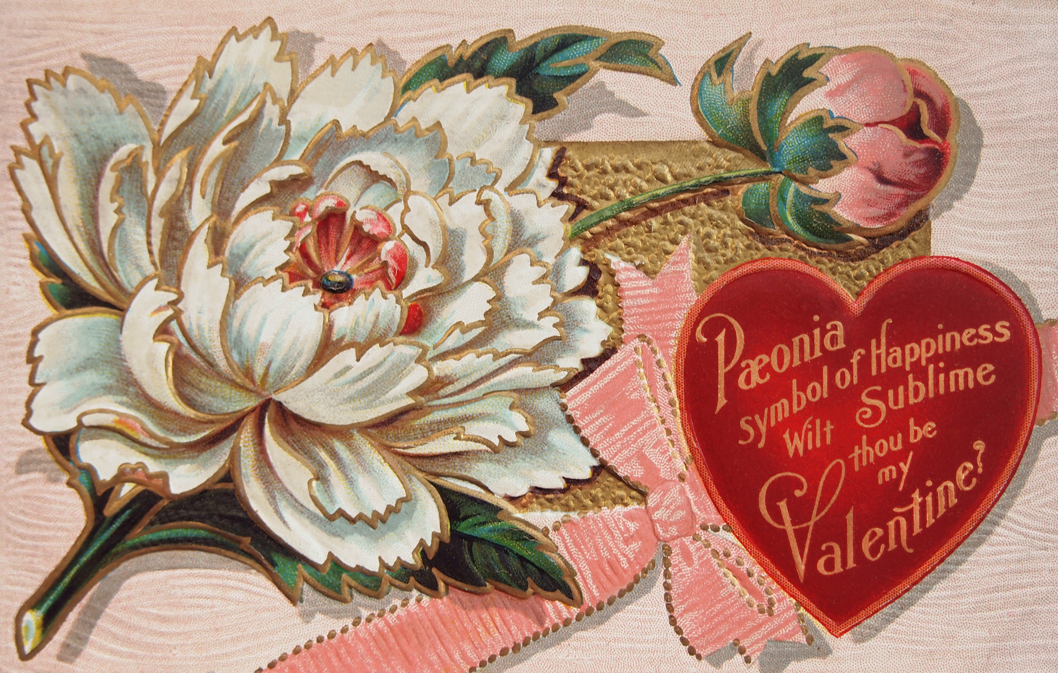 Free High Resolution Vintage Victorian Valentine's Day Postcard - Free Printable Vintage Valentine Pictures