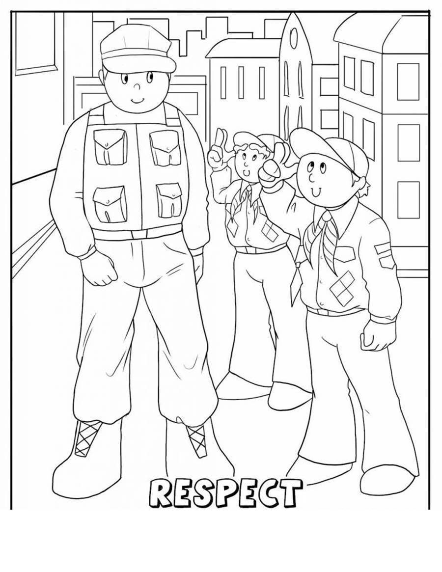 Free Kids Respect Coloring Pages Hand Drawing - Kidcolorings - Free Printable Coloring Pages On Respect