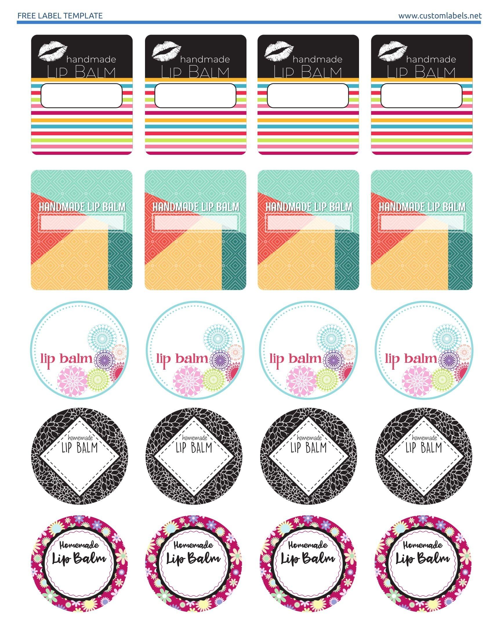 Free Lip Balm Label Printables. Editable Template Available On The - Free Editable Printable Labels