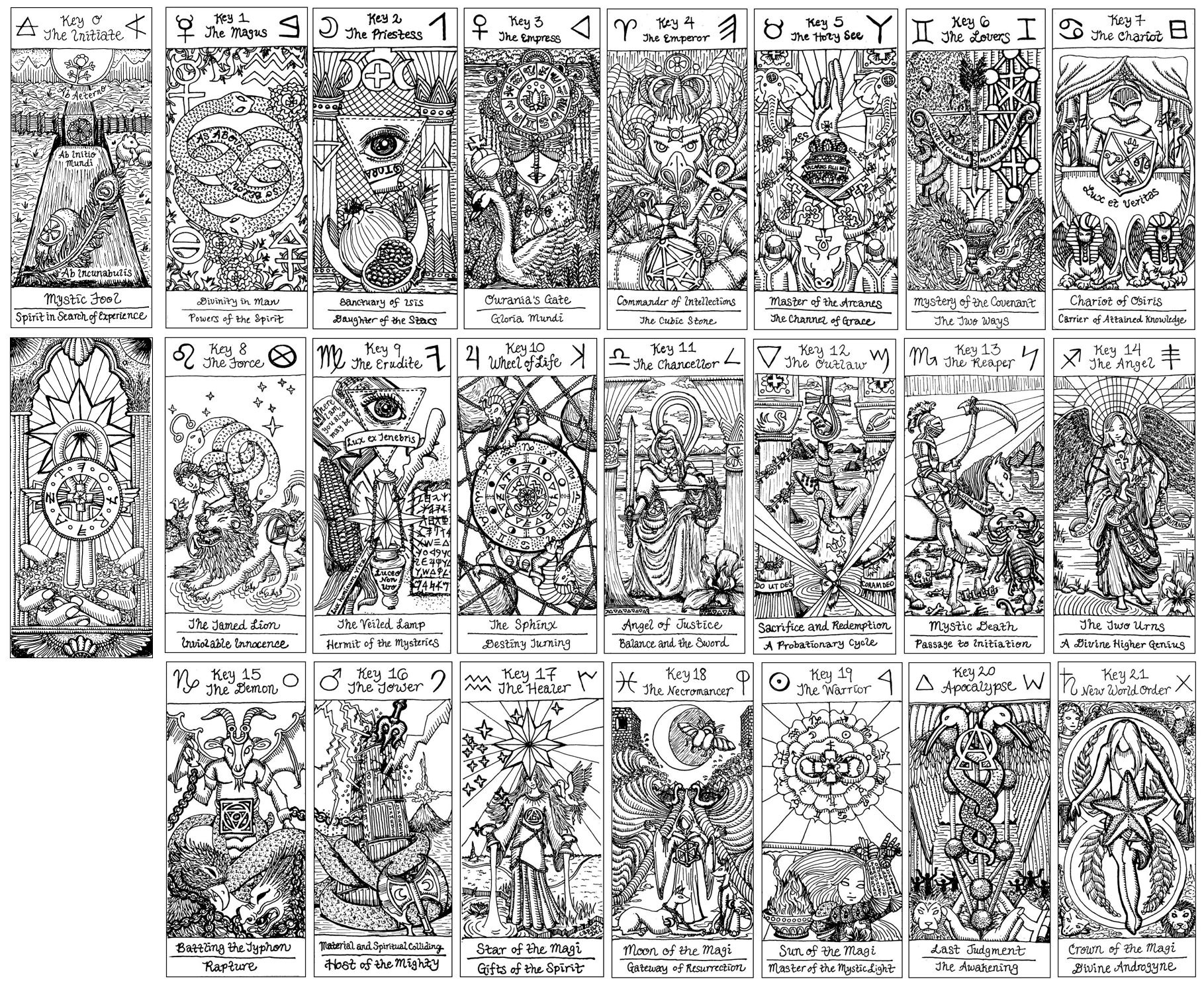 Free Major Arcana Download | Benebell Wen - Free Printable Tarot Cards