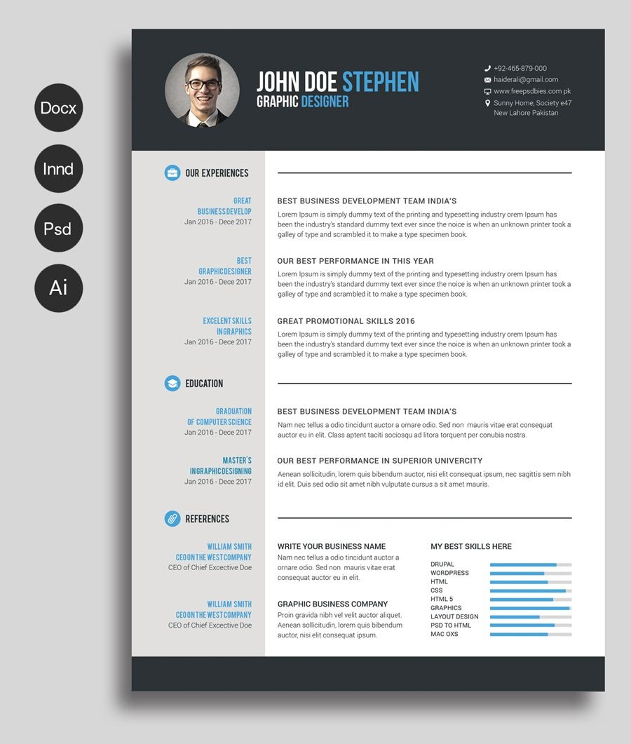 Free Ms.word Resume And Cv Template   As   Free Printable Resume - Free Printable Resume Templates Microsoft Word