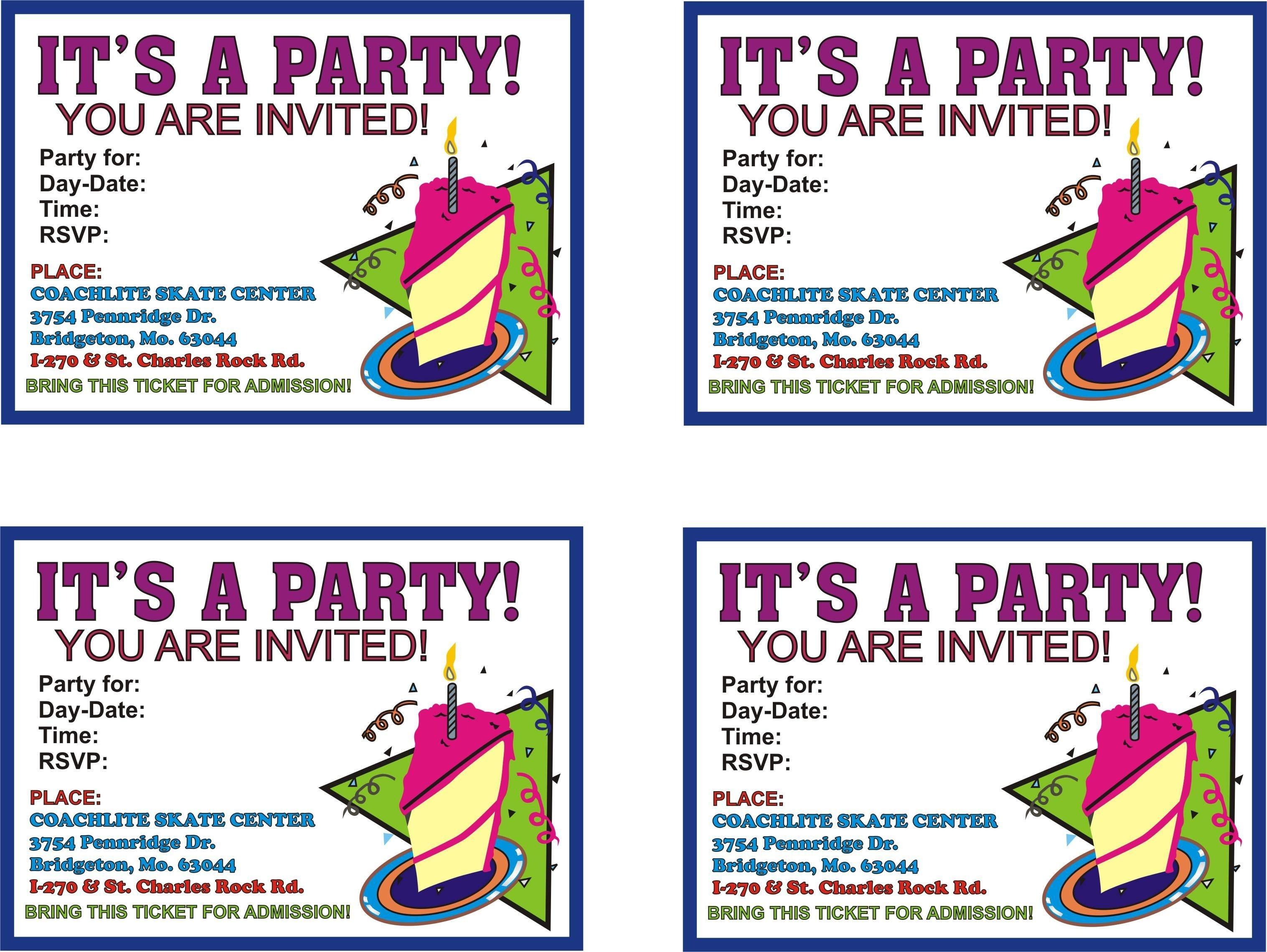 Free Online Printable Birthday Party Invitations   Lazine - Free Online Printable Birthday Cards