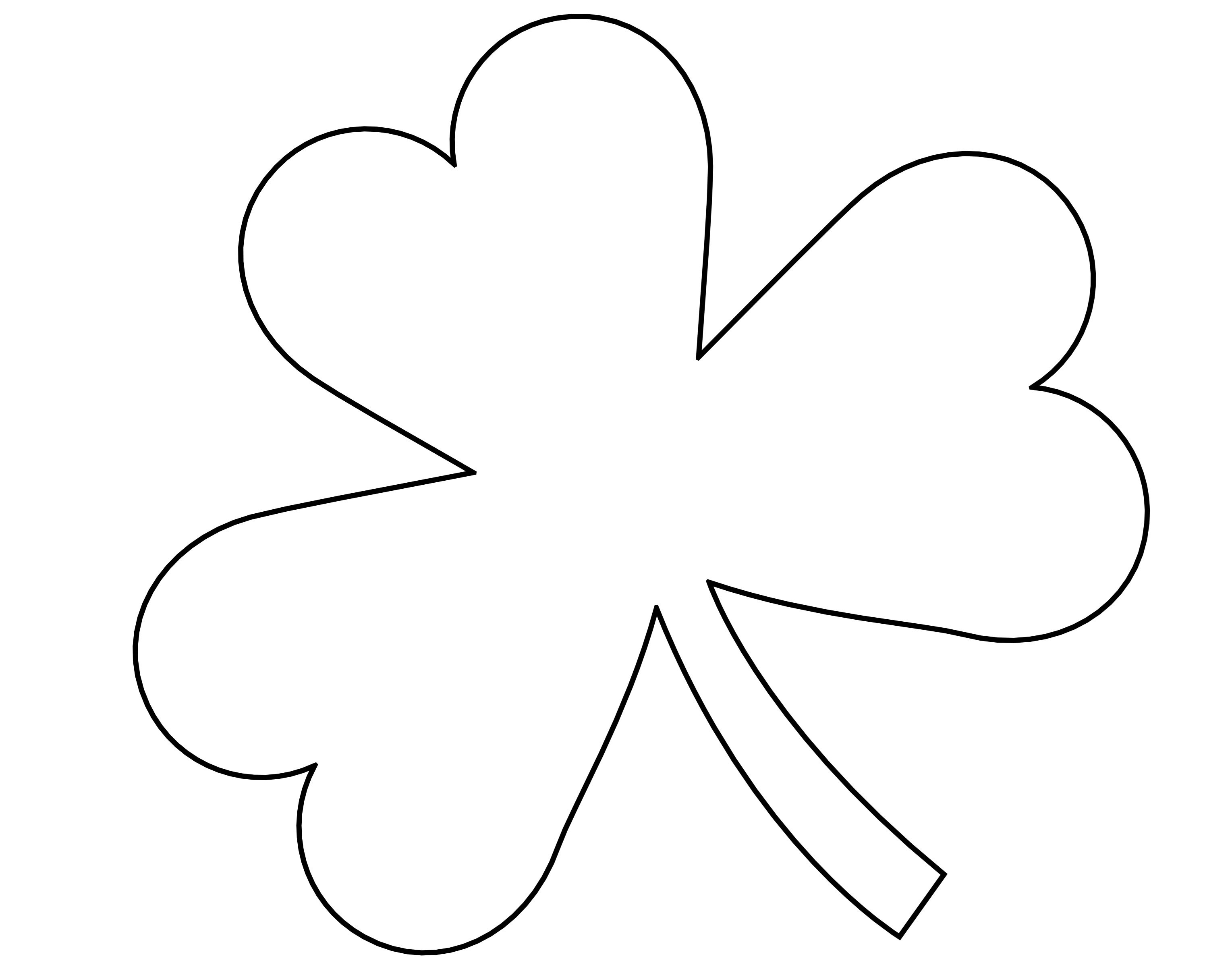 Free Outline Of Shamrock, Download Free Clip Art, Free Clip Art On - Free Printable Shamrock Cutouts