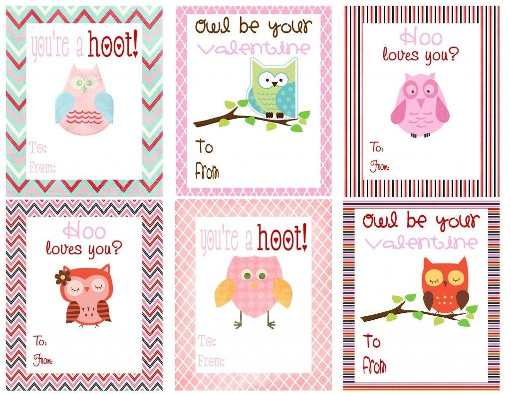 Free Owl Printables | Free Printable Valentine's Day Cards For Kids - Free Printable Owl Valentine Cards