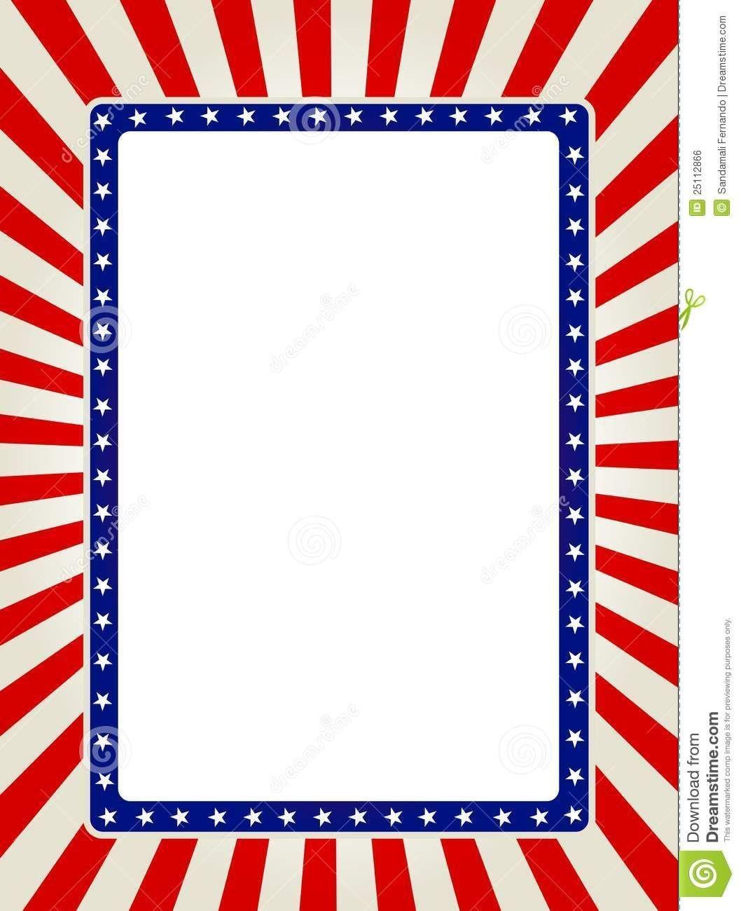 Free Patriotic Page Borders | Patriotic Border | Images | Printable - Free Printable Patriotic Writing Paper