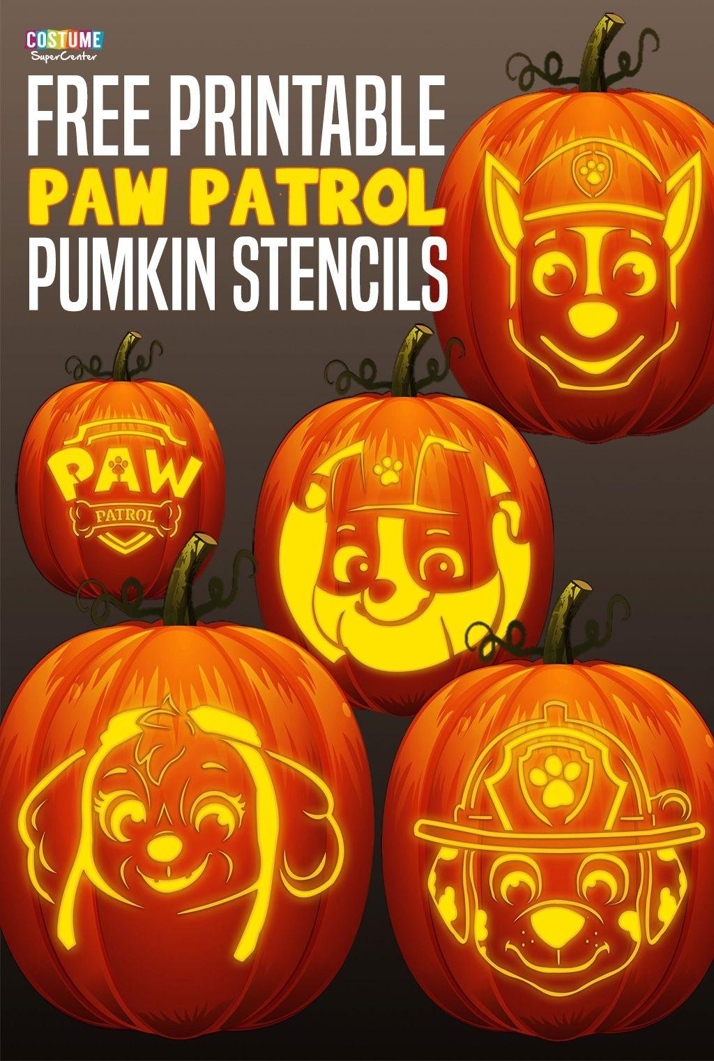 Free Paw Patrol Pumpkin Stencils   Paw Patrol Birthday   Paw Patrol - Halloween Pumpkin Carving Stencils Free Printable