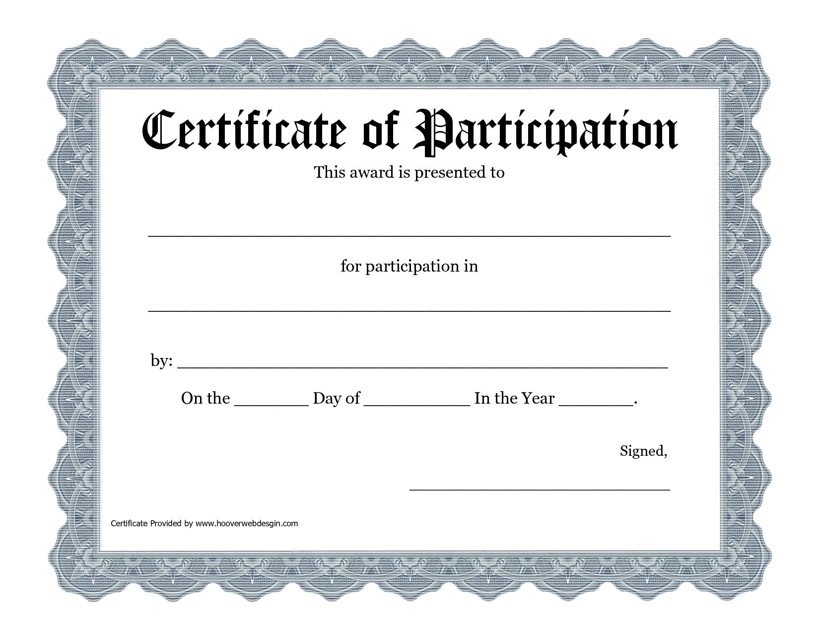 Free Printable Award Certificate Template - Bing Images | 2016 Art - Free Printable Blank Certificate Templates