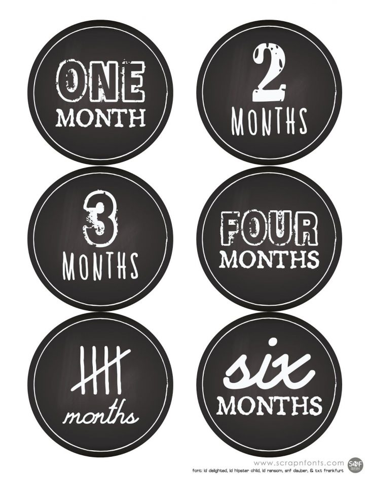 Free Printable Baby Month Stickers