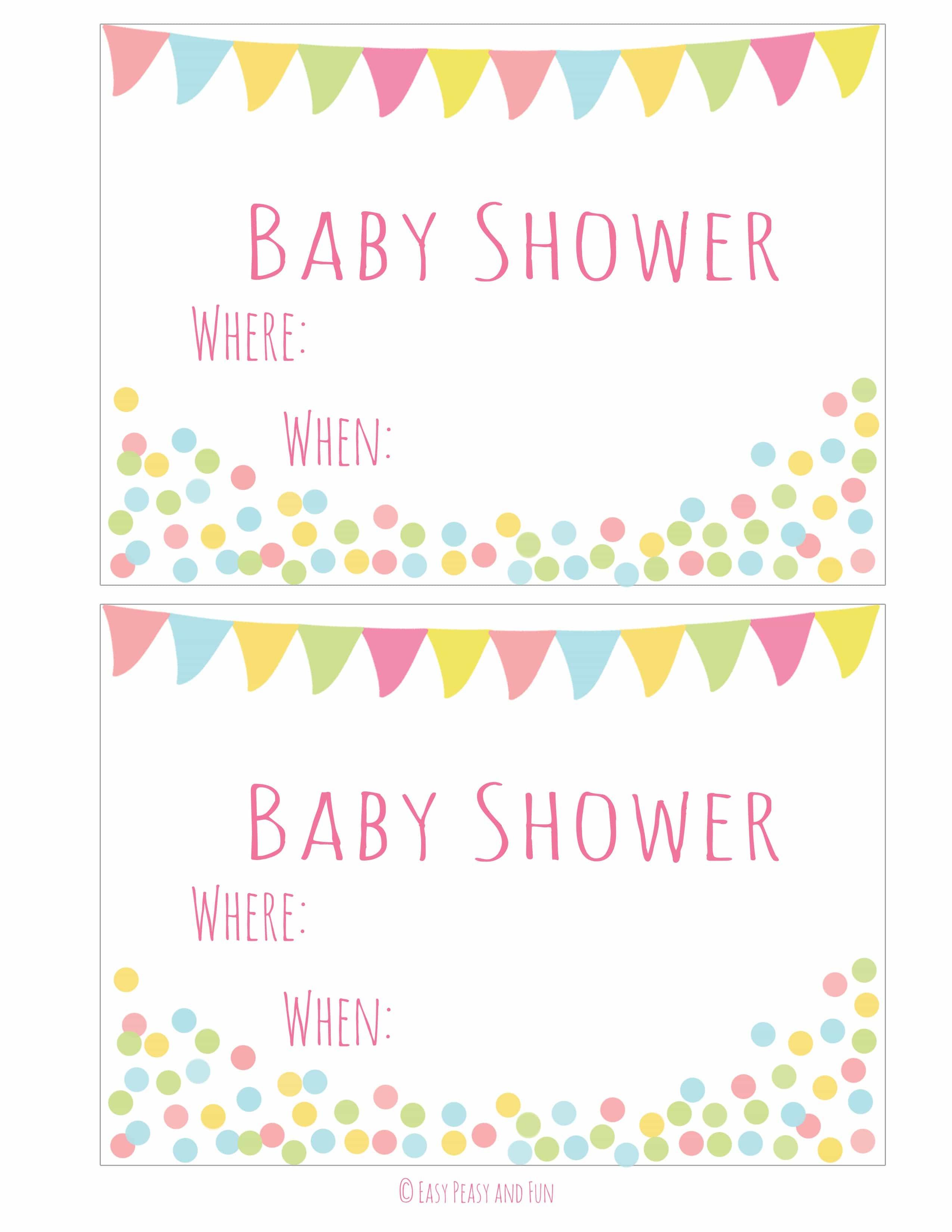 Free Printable Baby Shower Invitation - Easy Peasy And Fun - Free Printable Baby Shower Invitations