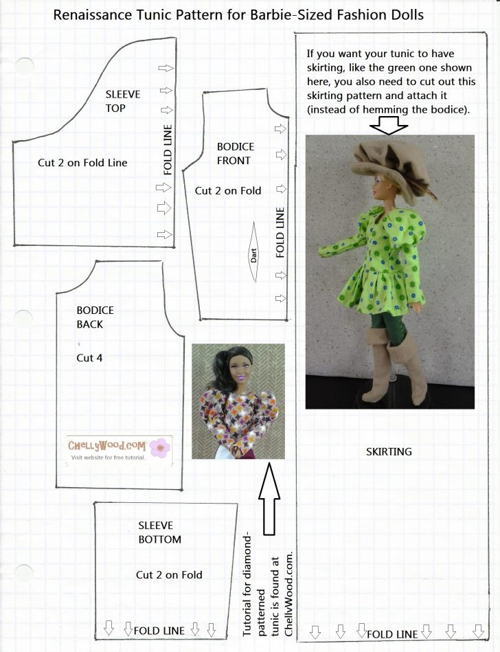 Easy Barbie Clothes Patterns Free Printable