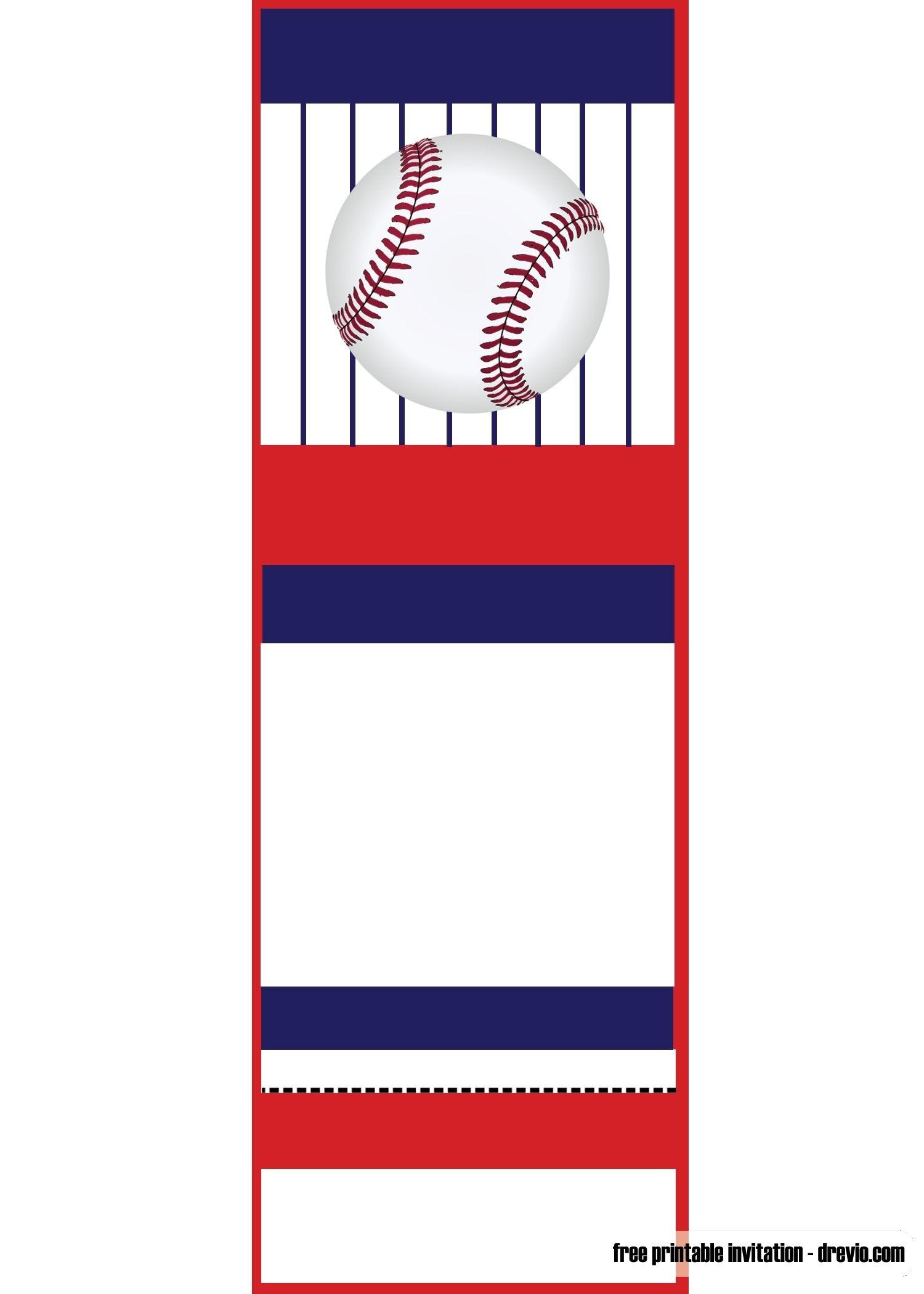 Free Printable Baseball Ticket Invitation Template | Free Printable - Free Printable Baseball Stationery