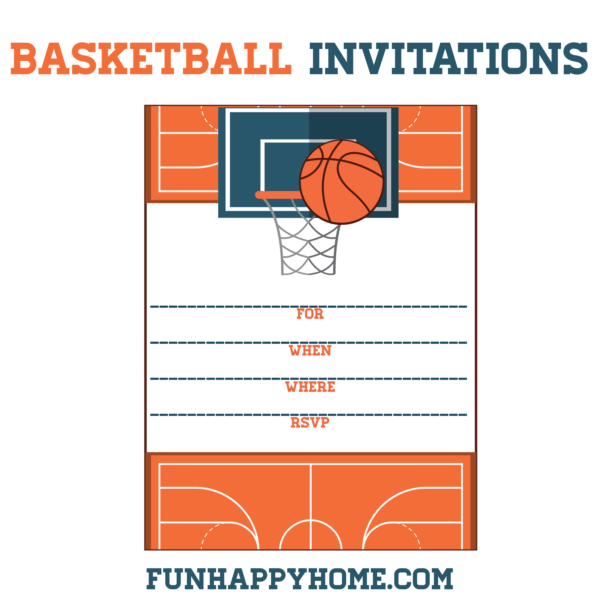 Free Printable Basketball Themed Party Invitations | Best Of - Free Printable Basketball Cards