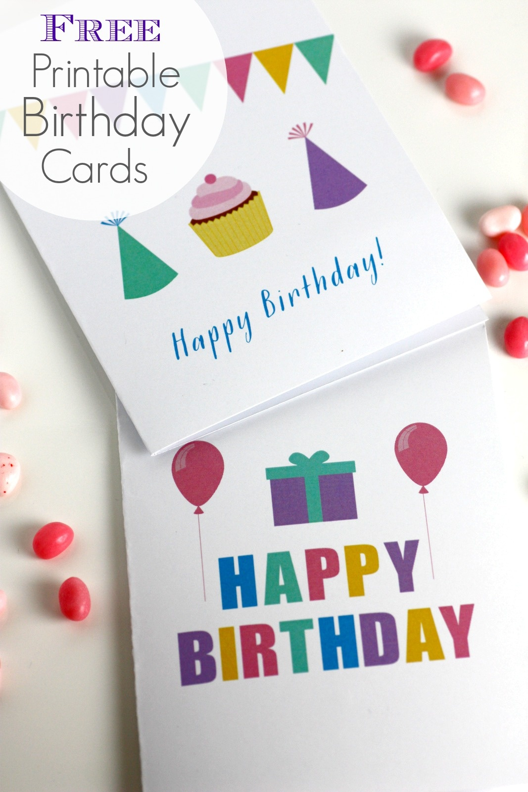 Free Printable Blank Birthday Cards   Catch My Party - Free Printable Happy Birthday Cards