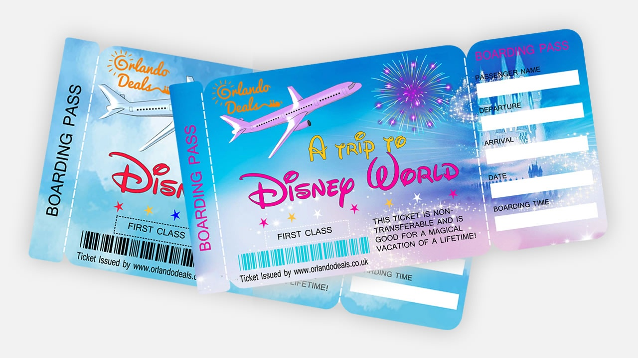 Free Printable Boarding Pass Tickets - Orlando Deals | Orlando - Free Printable Boarding Pass