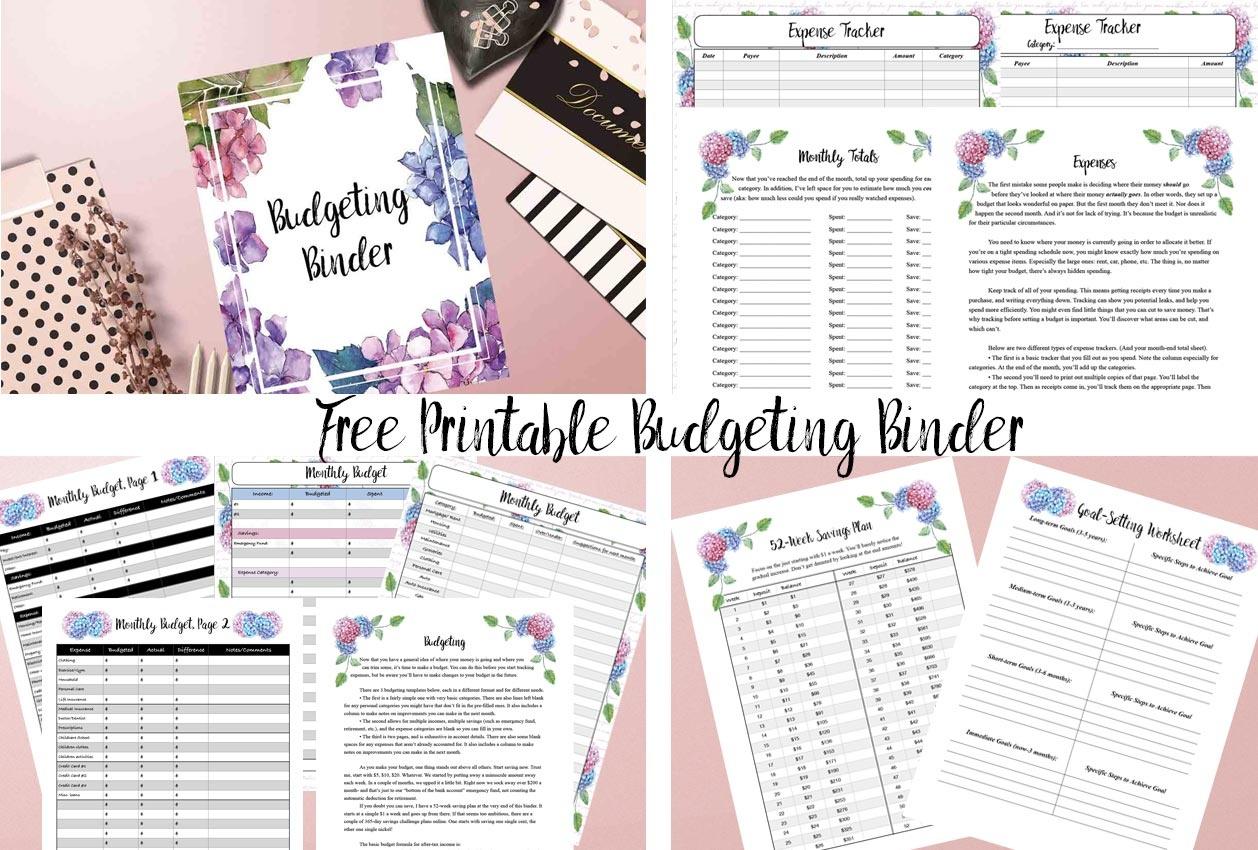 Free Printable Budgeting Binder: 15+ Pages! - Free Printable Budget Binder Worksheets