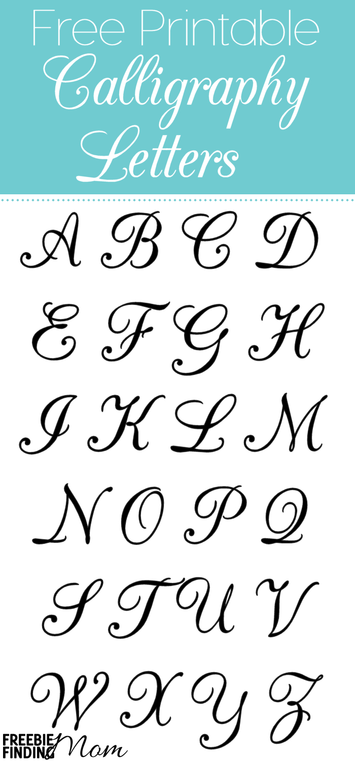 Free Printable Calligraphy Letters | Calligraphy | Calligraphy - Free Printable Calligraphy Letter Stencils