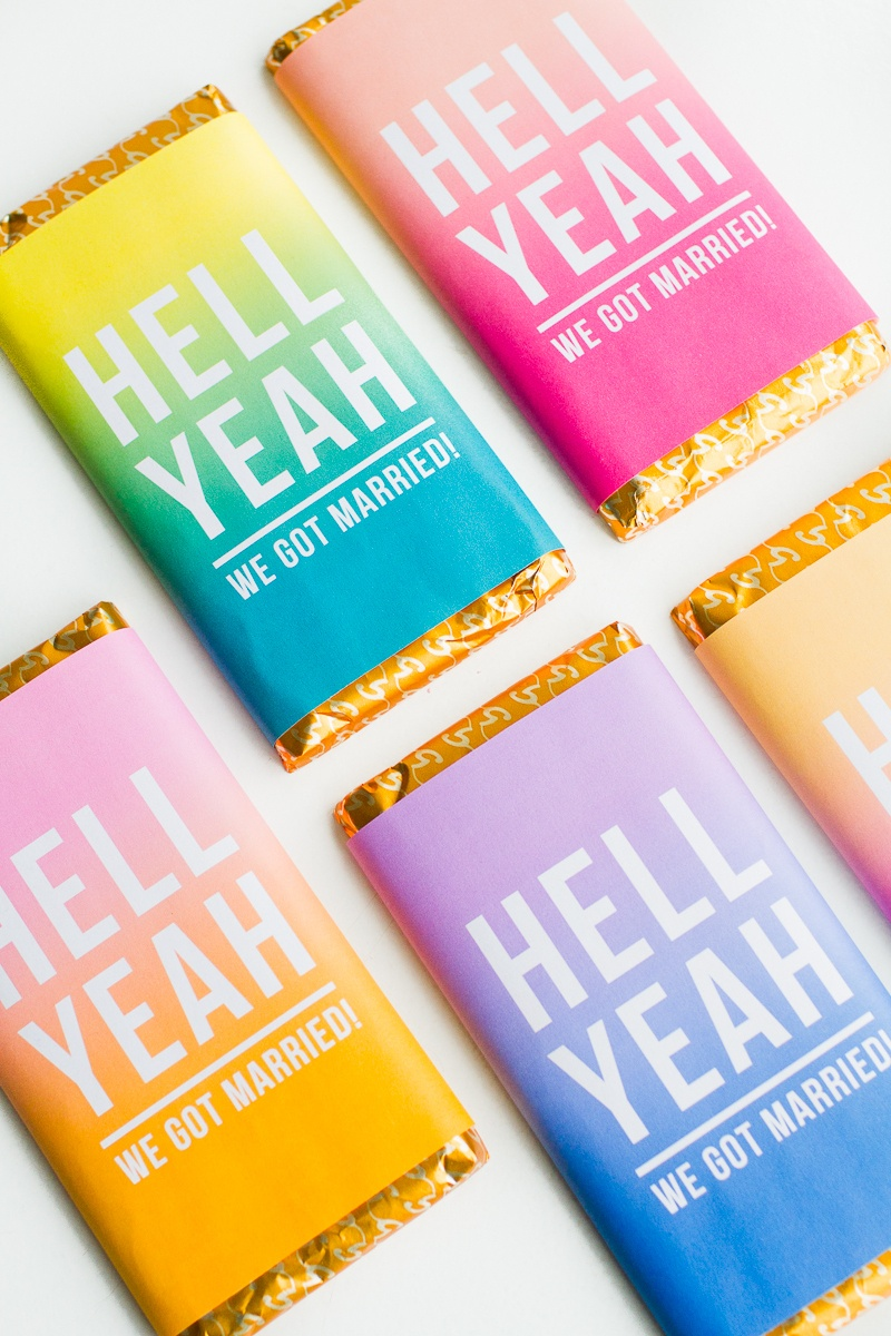 Free Printable Chocolate Bar Wrappers For Your Favours! | Bespoke - Free Printable Candy Bar Wrappers